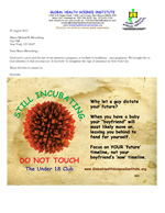 New York City Mayor Bloomberg letter for Teen Pregnancy Campaign link.